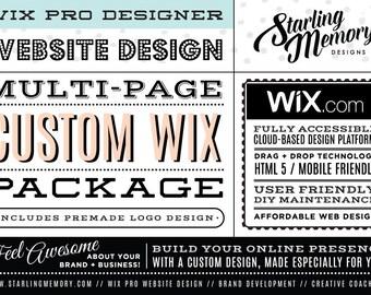 Multi Page CUSTOM WIX Website Design Package - Custom Website Design Package - Custom Wix Makeover or New Custom Wix Website - Wix Pro