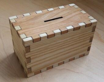 Hardwood Money Box, Money Bank