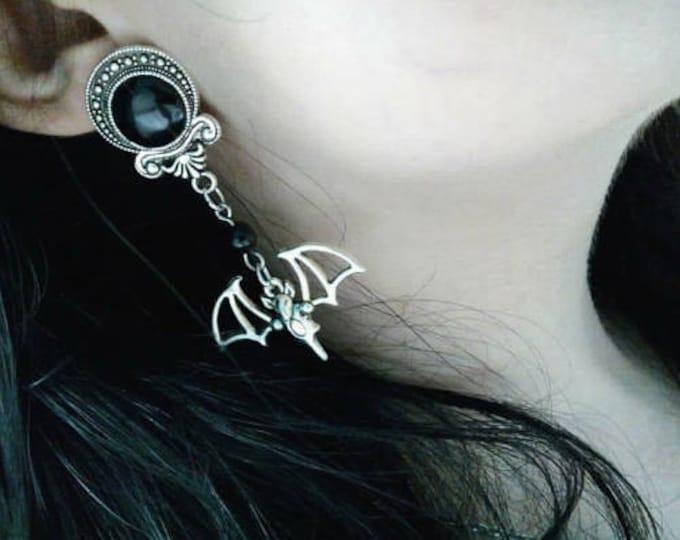 Vampire Bat Earring/Plugs - gothic vampire occult