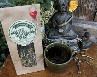 RECOVERY SPELL TEA - Organic Herbal Recovery Spell Cold Flu Fever Sore throat Immune boost Head ache Cough Remedy Calming Soothing Herb