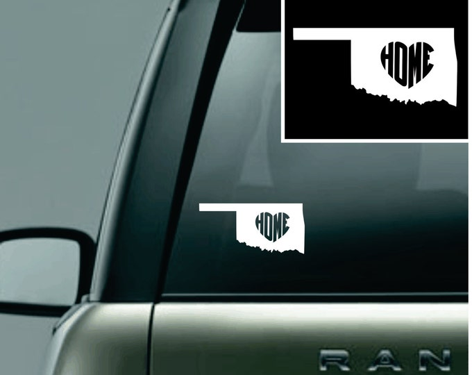 Oklahoma Love Your State Car Decal