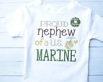 Marine's Shirt, Marine Graduation Shirt, Marine Nephew Shirt, US Marines, Marine Nephew Shirt, Marine Nephew Graduation Shirt