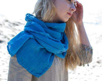 Lightweight linen scarf, 100% eco-friendly linen, super soft