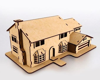 houseDIY,toy dollhouse,cnc router files,wooden model house,laser cut vector,wooden toy,toy of plywood,cnc,dxf plan,cnc files,3d puzzle