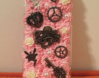READY TO SHIP Pink Steampunk Decoden Case for iPhone 6/6S