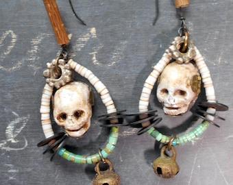 Ars Longa Vita Brevis Dangle Memento Mori Earrings
