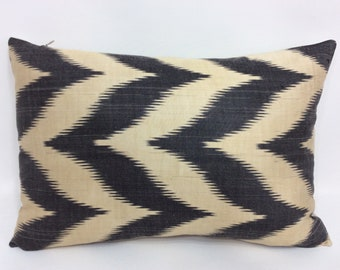 "Handmade ikat pillow cover 16""x24"" Fast Free Shipping with FEDEX 1-3 days"