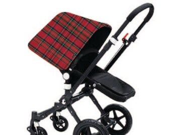 Bugaboo Cameleon, Bee, Donkey, Frog Custom canopy hood cover Red scottish plaid by Stroll N Style