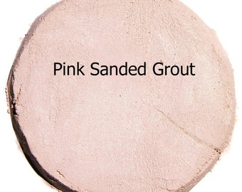 Pretty PERFECT PINK 2 Pounds Mosaic Tile Grout Sanded Polymer Fortified Custom Blend Color for Craft Tiles Home Projects - Just Add Water