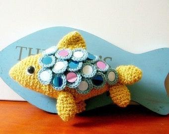 Crochet Amigurumi  pattern / PDF - Sparkling Fish / Wall Fish
