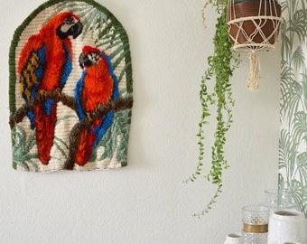 Wall Hang Parrot Jungle Boho Vintage