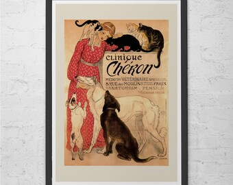 ART NOUVEAU POSTER Paris Art Poster Fine Art Print Belle Epoque Wall Art Best Quality Giclee Art Nouveau Print