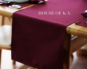Burgundy Table Runner 14 x 108 inches | Burgundy Table Runners for Weddings, Banquet Events, Hotels and Restaurants