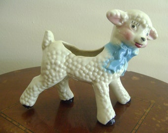 Adorable Vintage Lamb Planter