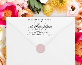 Custom Address Stamp - Return Address Stamp - Wedding Address Stamp - Minimal Address Stamp - Personalized Address Stamp  No.135
