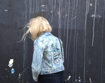 CUSTOM DESIGN - Hand Painted Denim Jacket