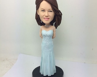 Bridesmaid Bobble Head Bridesmaid Figurine Bridesmaid Personalized Gift Based on Customer's Photos Bridesmaid Gift Bridesmaid Wedding Gift