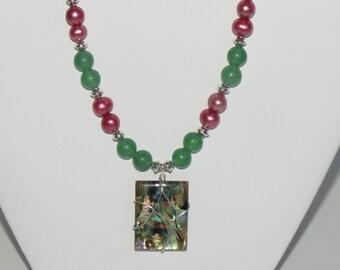 Genuine abalone pendant
