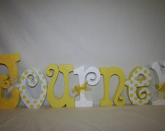 Name letters, Wood letters, 7 letter set, Wooden name sign, Personalized name letters, Name sign, Nursery wall letters, Nursery letters