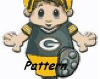 Green Bay Packers Mascot #5. Cross Stitch Pattern. PDF Files.