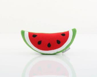 Watermelon Plush - Watermelon Toy (Green/White/Bright Red)