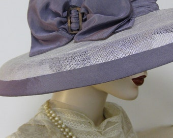 French Lavender Sinamay Capeline Hat