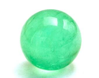 Fluorite Sphere Crystal Stone (21mm x 21mm x 21mm) - Green Fluorite