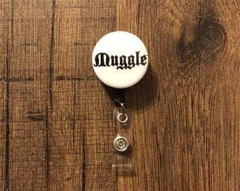 Harry Potter Retractable Badge Holder- Muggle