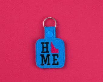 Idaho Home Keychain Fob Accessory, Gifts under 10, white elephant gift, christmas gift, stocking stuffer, state, home sweet home, idaho made