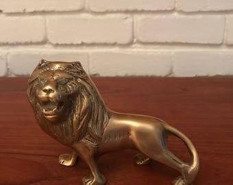 Mid-Century Modern Brass Lion