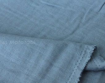 Japanese Fabric - Kobayashi solid TRIPLE gauze - steel blue - 50cm