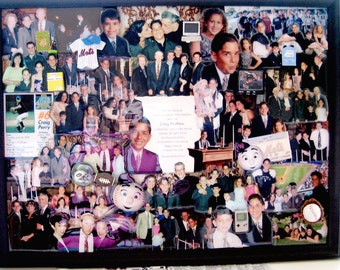 "Bar Mitzvah 3D Photo Collage by Collagery  (18""x24"" shown)"