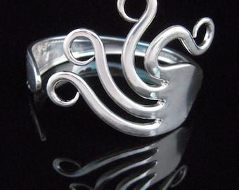 Fork Bracelet - Silverware Jewelry - Original Wavy Design Number Two