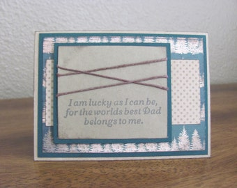 """Woodsy """"Worlds Best Dad..."""" Father's Day Greeting Card"""