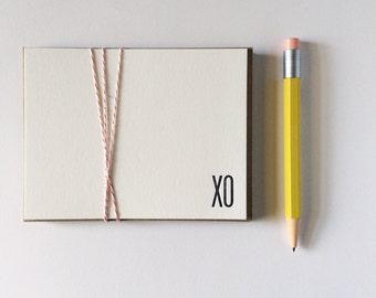 XO Letterpress Note Cards Thank You Stationery Stationary Salutations