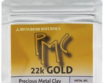 22 karat gold metal clay, PMC 22K GOLD, 3g