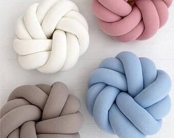Modern pillow Knot pillow Knot cushion Decorative pillow Trendy pillow, Handmade pillow, Knot Floor Cushions, Minimalist, Scandinavian decor