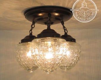 Island Falls. Ceiling Lighting Fixture Trio - Chandelier Light Pendant Lamp Flush Mount Fixture Farmhouse Track Fan Glass Kitchen Lamp Goods