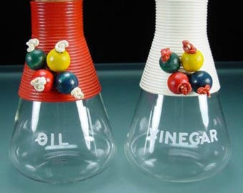 Colorful Oil & Vinegar Cruets