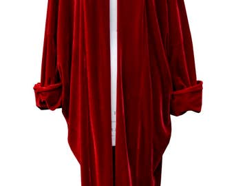 Baylis and Knight Red Velvet  Duster Coat Opera
