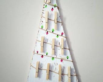 Holiday decor merry Christmas tree card holder