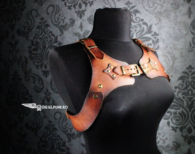 STEAMPUNK HARNESS - leather harness - unisex harness - larp - cosplay