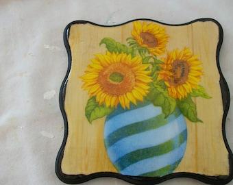 Decorative trivet, sunflower