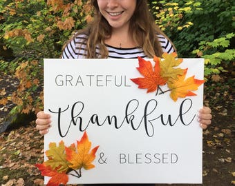 Thankful Sign - Ready To Ship