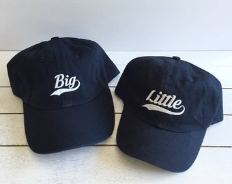 BIG, LITTLE, MINI | Sibling Hats, Sibling Apparel, Family Hats, Dad Hats, Toddler Hats, Kids Baseball Hat, Baseball Cap