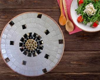 Mid Century Modern | Mosaic Tiles Unique Centerpiece Platter Home Decor 1960s Vintage Rare