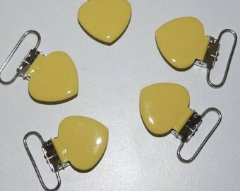 Pacifier clip yellow heart