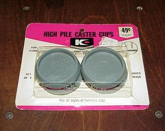 Vintage--NOS--High Pile Caster Cups--Kirkhill, Inc--Carpet Protectors