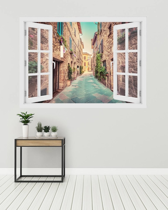 3D Window Tuscan Wall Decal by