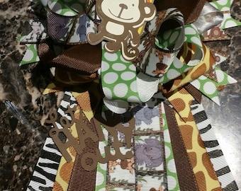 Baby shower corsage mum safari